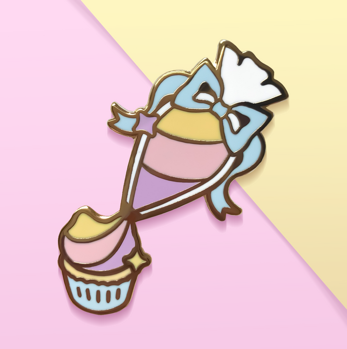 Kitten Piping Bag Enamel Pin
