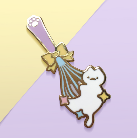 Kitten Whisk Enamel Pin