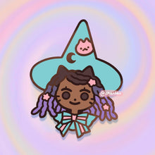 Load image into Gallery viewer, Konpeito Witch Pin (2 colourways)