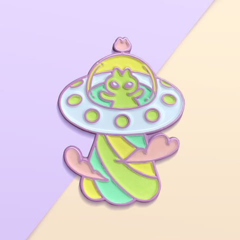 Alien Kitty UFO Pin Club Exclusive