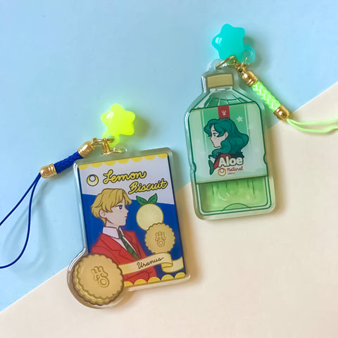 Sailor Uranus | Sailor Neptune Acrylic Charm