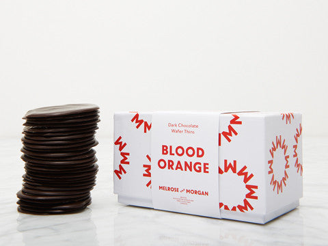 Blood Orange Dark Chocolate Wafers