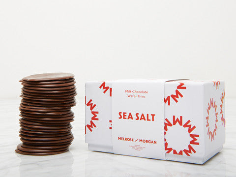 Milk Chocolate Wafers with Sea Salt