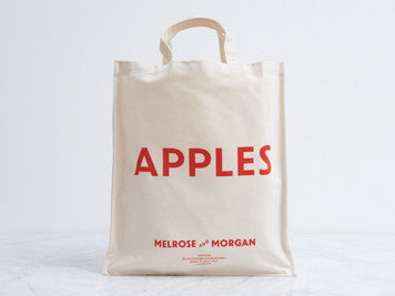 Apple canvas shopping bag