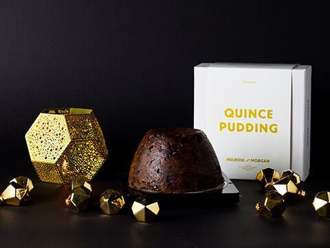 Christmas Pudding with English Quince