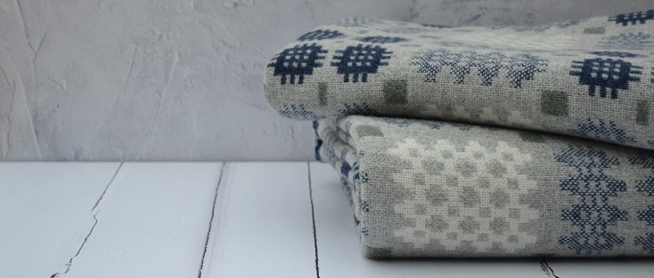 Welsh tapestry blankets. Iconic double weave patterns - Traditonally hand woven in Wales
