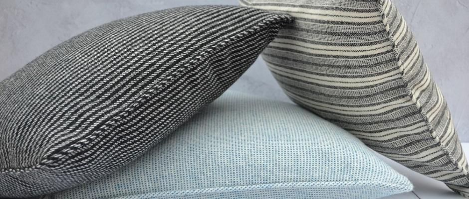 Welsh flannel cushions - handmade with piped seams - FelinFach