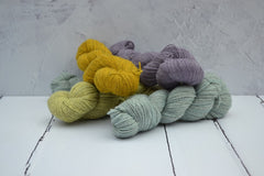 Hand dyed yarn with 100% natural dyes - Bluefaced Leicester Gotland yarn