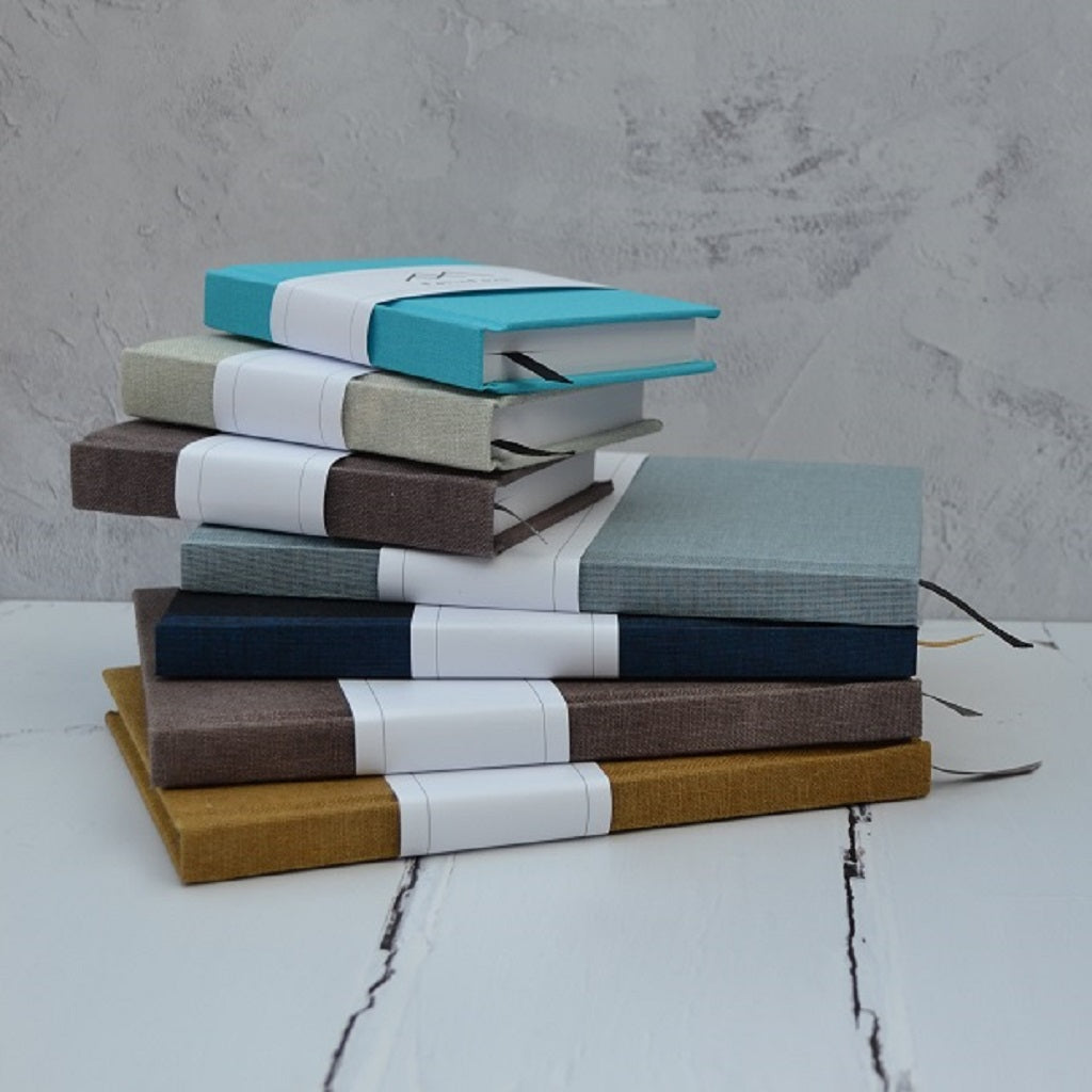 Hand Bound Books - Hand dyed book cloth - handmade paper