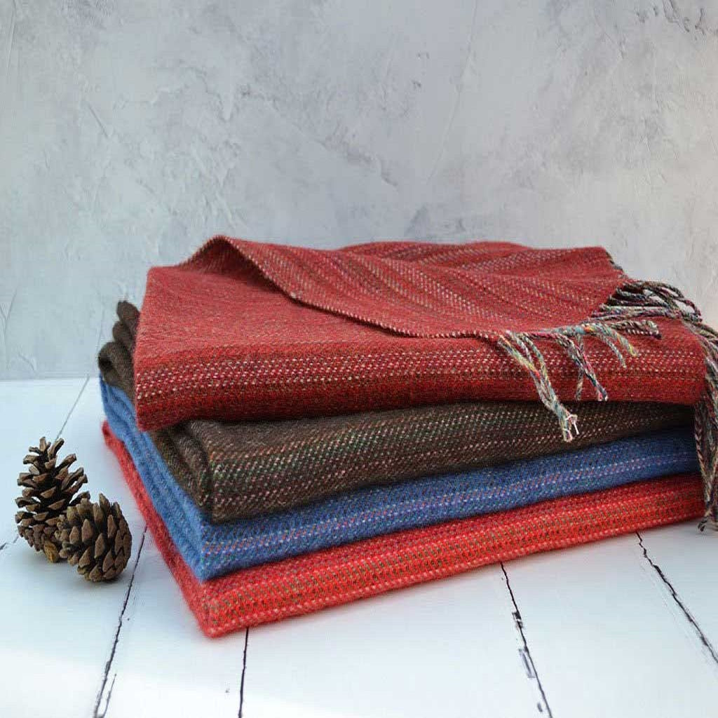 Welsh wool throws - Traditionally woven in Wales - FelinFach woollen throws