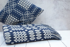 Welsh tapestry blankets and cushions - Nothing says hiraeth more than an iconic navy Welsh tapestry blanket