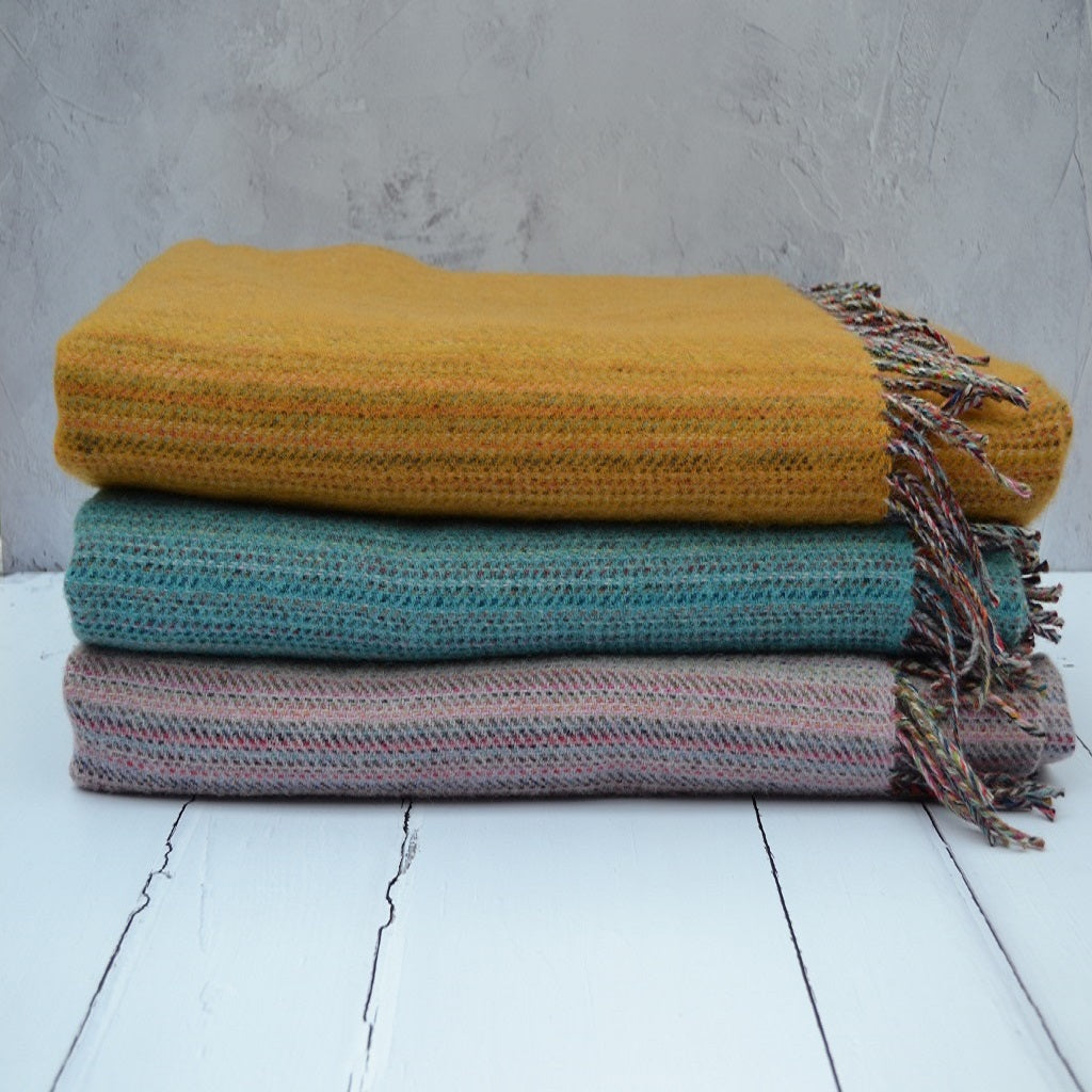 Welsh wool throws - traditionally woven woollen throws in Wales