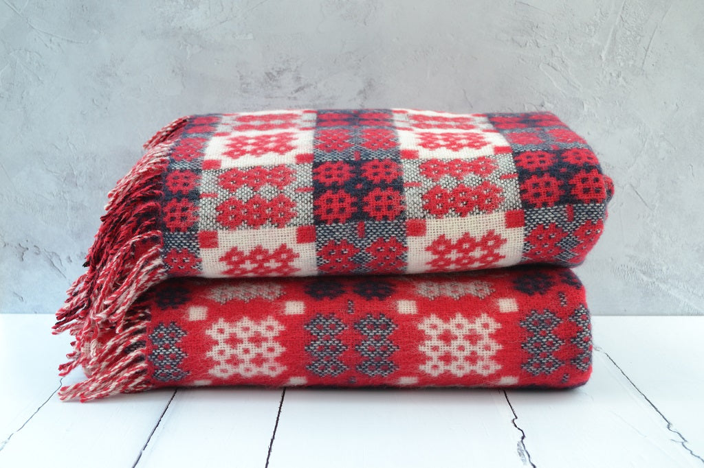 Welsh blankets for sale - Handwoven in Wales - Smaller softer version of a tapestry blanket