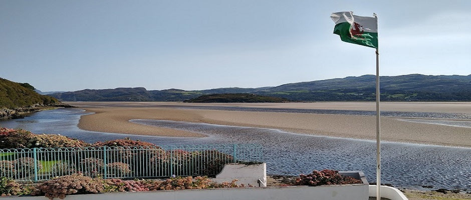 Portmeirion - Views over the Dwyryd river estuary from the hotel grounds