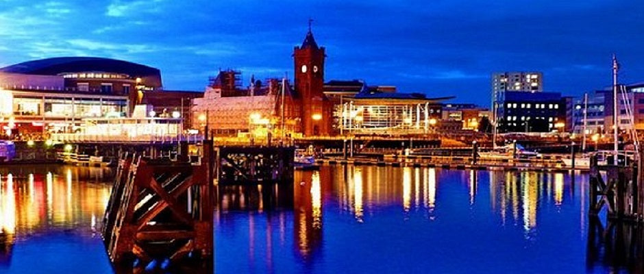 Cardiff Bay, the Pierhead Building and the Senedd all part of the Cardiff the Capital City of Wales