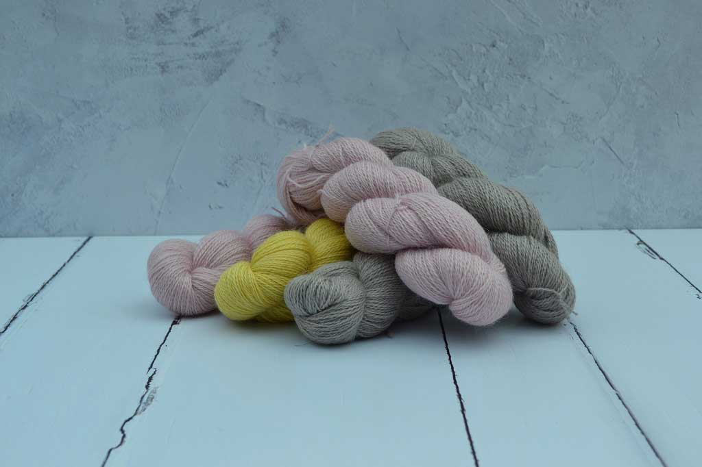 Hand dyed yarn. Natural dyes include Cochineal,Osage, Wattle