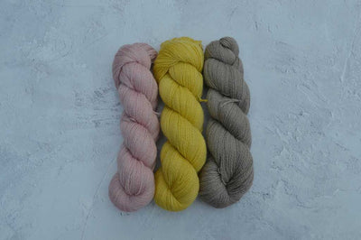 Corriedale Mohair blend Hand Dyed using Botanical Dye