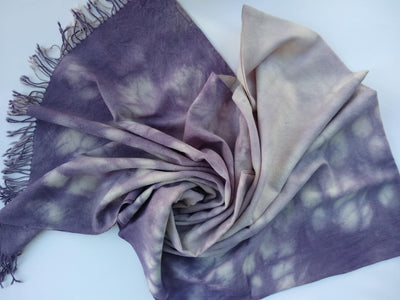 Hand Dyed Merino Wool Scarf