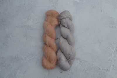 Logwood and Pomegranate Kid Mohair