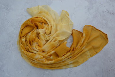 Hand dyed Organic Cotton Scarf