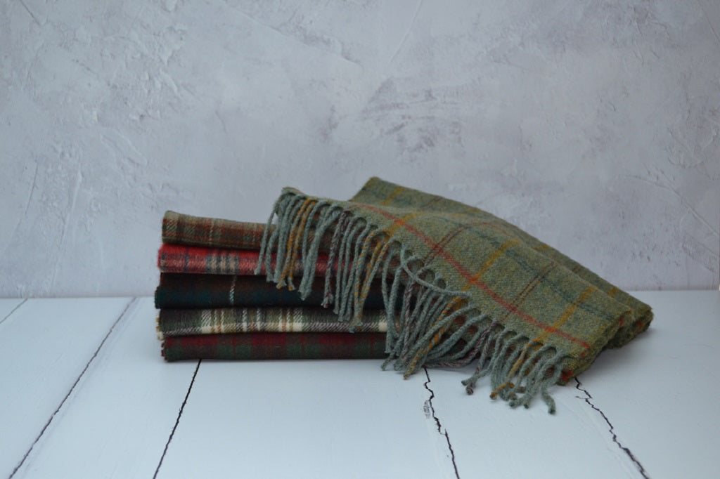 Multi Check Lambswool Scarves