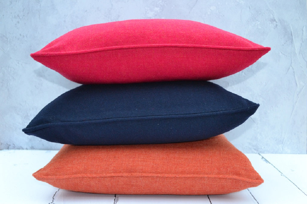 Traditional Welsh Flannel Cushions - FelinFach Welsh Flannel Cushions