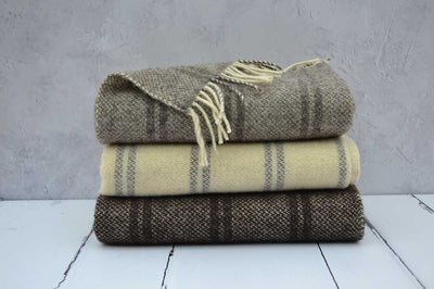 Rare breed welsh woollen blankets and throws - Welsh Black and Ryeland Sheep Breeds