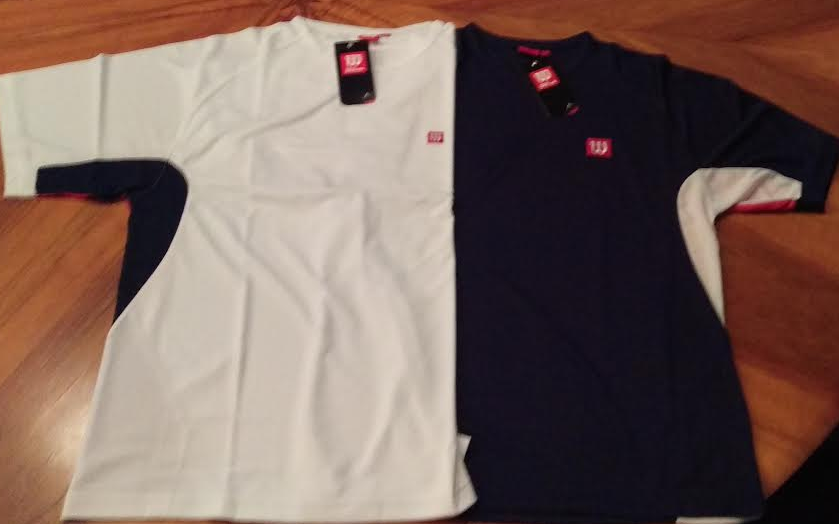 WILSON TECH SHIRT NAVY/WHITE II