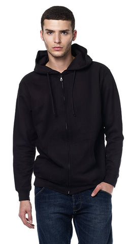 EARTHPOSITIVE® MENS HOODED ZIP-UP