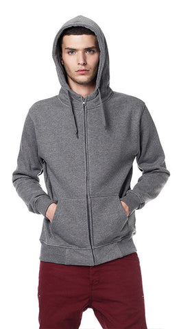 MENS HIGH NECK ZIP UP HOODY