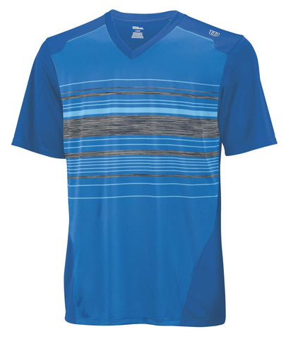 B Su Specialist Stripe V Neck Pool