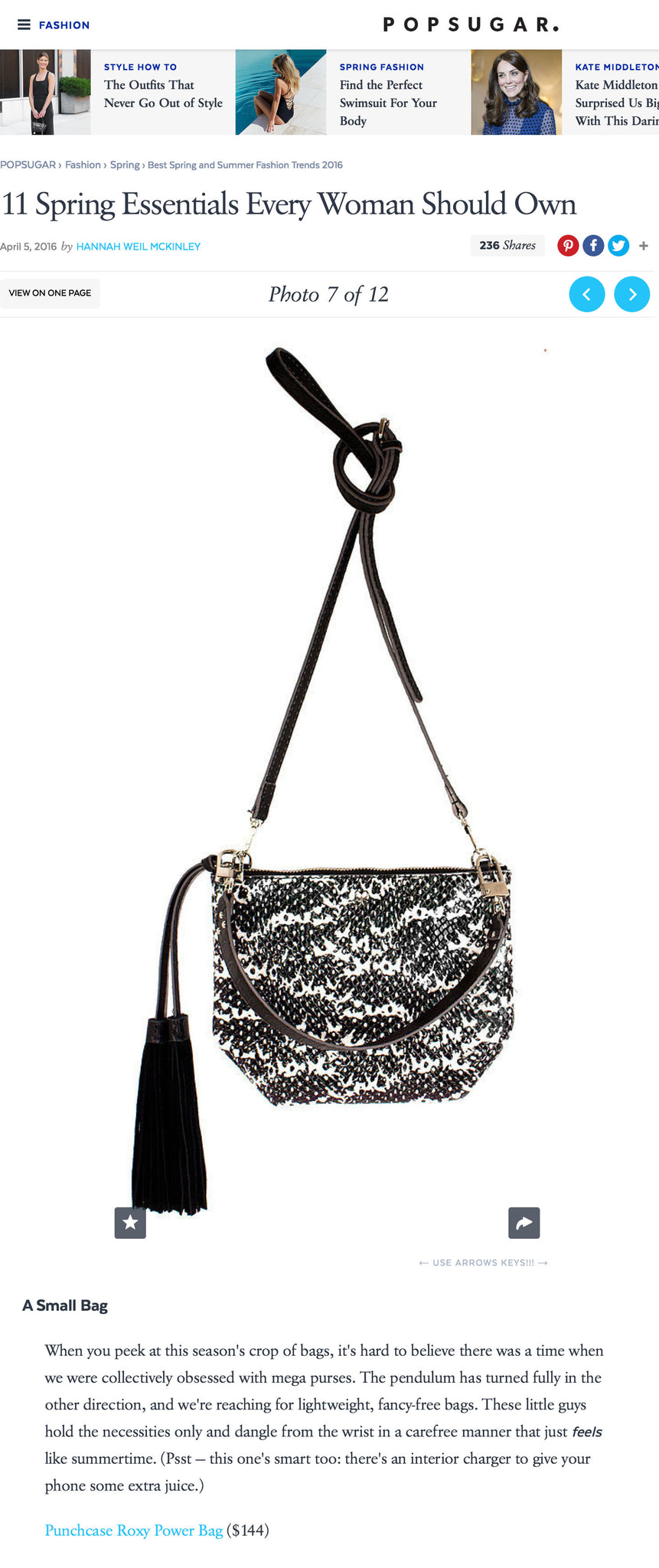 Roxy Power Bag Snake skin