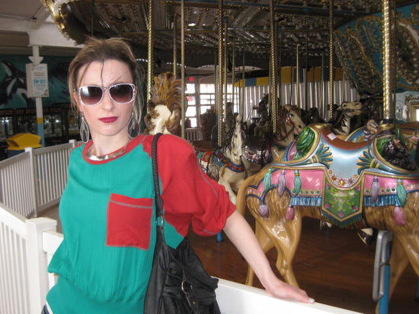 vintage carousel horse seaside heights NJ