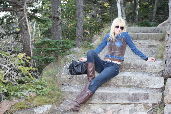 vintage denim in Acadia National park
