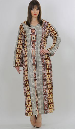 Genuine vintage 70s hippie boho tribal ethnic India loose fit Caftan dress
