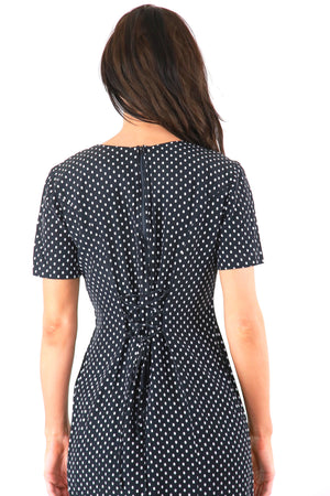 Black polka dot grunge dress 90s lace up dress polkadot mini dress festival dress M
