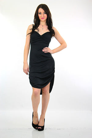 Vintage 80s black cocktail Party Dress - shabbybabe  - 1