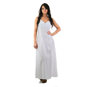Boho bridal white eyelet lace halter maxi dress - shabbybabe  - 2