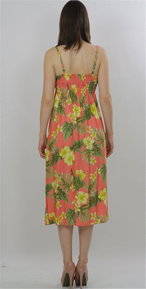 Vintage 90s Boho Hippie tropical floral party maxi sun dress - shabbybabe  - 2