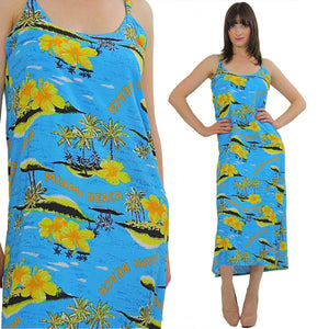 Vintage Boho Floral Miami Beach cover sun dress - shabbybabe  - 3