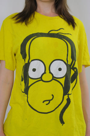 Vintage Homer Simpson Tshirt  Homer Simpson Tee shirt Homer Simpson Costume Homer Simpson T Homer Simpson Beach shirt  XL Cartoon Beachcover - shabbybabe  - 4