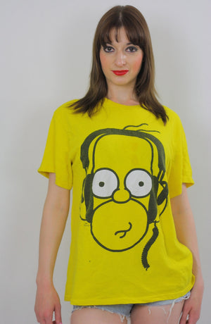 Vintage Homer Simpson Tshirt  Homer Simpson Tee shirt Homer Simpson Costume Homer Simpson T Homer Simpson Beach shirt  XL Cartoon Beachcover - shabbybabe  - 3