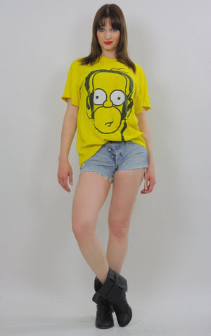 Vintage Homer Simpson Tshirt  Homer Simpson Tee shirt Homer Simpson Costume Homer Simpson T Homer Simpson Beach shirt  XL Cartoon Beachcover - shabbybabe  - 2