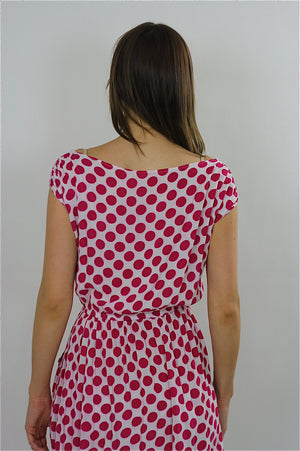 80s Red Polka dot Dress boho grunge polkadot mini sundress - shabbybabe  - 5