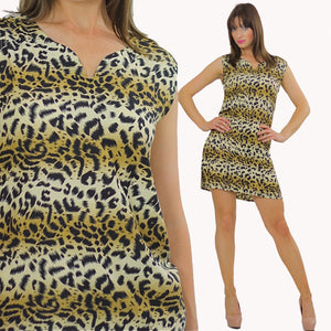 80s Ombre Animal print leopard mini dress - shabbybabe  - 2