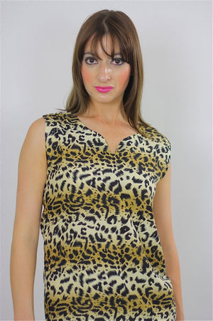 80s Ombre Animal print leopard mini dress - shabbybabe  - 4