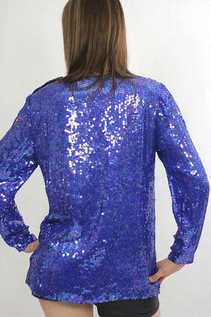 Vintage sequin beaded top sequin top beaded top Sequin tunic top Gatsby dress top Beaded party dress top Party top deco top deco dress top M - shabbybabe  - 5