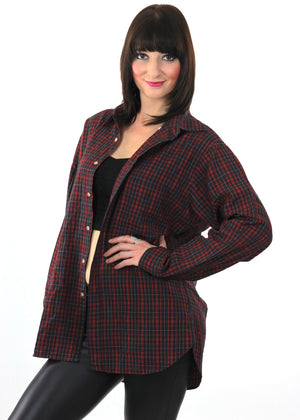 90s Grunge Pendleton wool red plaid shirt - shabbybabe  - 3