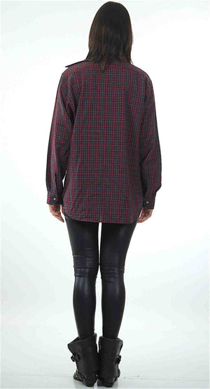 90s Grunge Pendleton wool red plaid shirt - shabbybabe  - 4