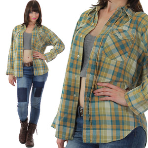 Vintage Heavyweight flannel shirt - shabbybabe  - 5